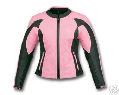 054f6d684 WOMENS PINK & BLACK ARMOR LEATHER MOTORCYCLE JACKET   Holiday Wish ...