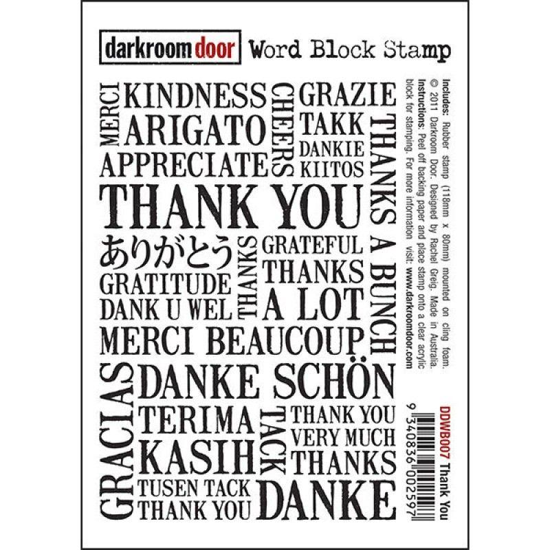 darkroom door Thank You Word Stamp - Google Search
