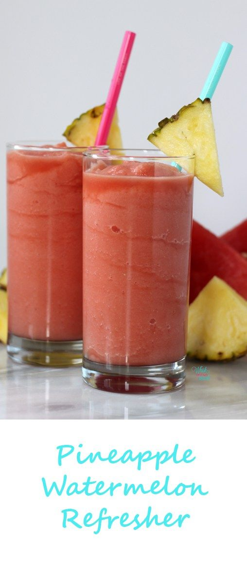 Pineapple Watermelon Refresher made in the Vitamix