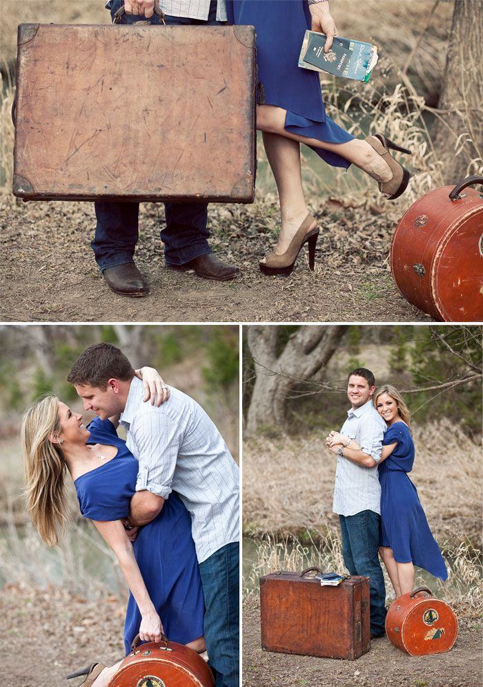 , Engagement photo shoot with a traveling theme #travel #engagement #engaged #photoshoot #photos, Travel Couple, Travel Couple