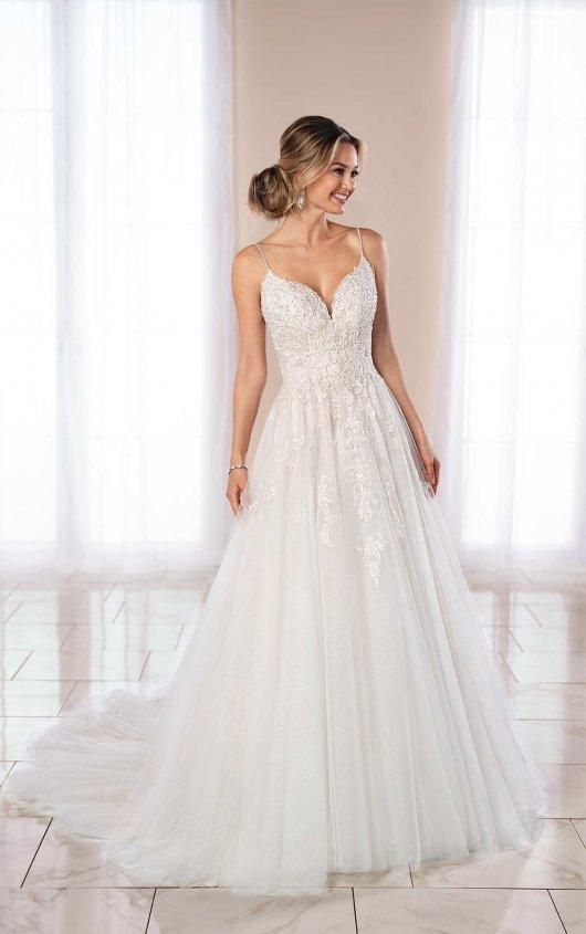 Spaghetti Strap Ball Gown Wedding Dress | Kleinfeld Bridal