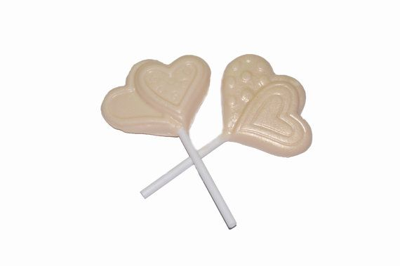 One look at these lollipop soaps will make your mouth water and long for something sweet; but don't take a bite! Each lollipop is scented with warm vanilla sugar. $1.25  http://www.etsy.com/listing/96661286/lollipop-soaps