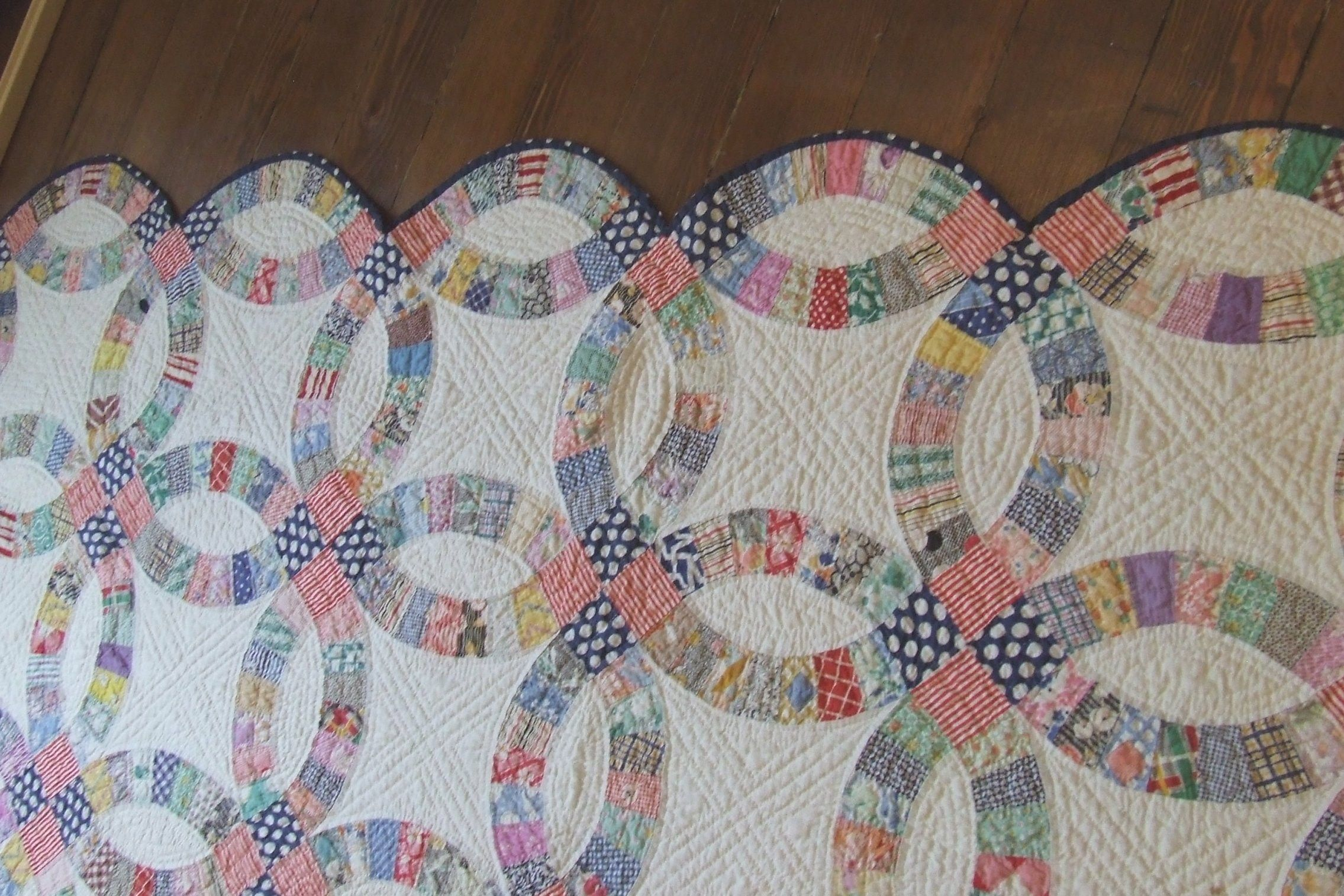 Easy Double Wedding Ring Quilt Pattern | Double wedding rings and ... : double wedding quilt pattern - Adamdwight.com