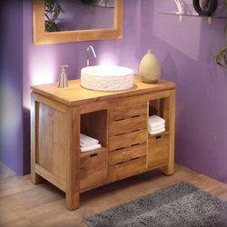 Meuble de salle de bain teck massif \'Annecy\'   Salle de bain annie ...