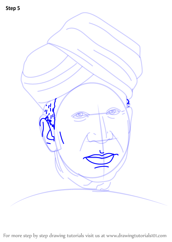Learn How To Draw Sarvepalli Radhakrishnan Politicians Step By Step Drawing Tutorials In 2020 Drawing Tutorial Step By Step Drawing Easy Drawings
