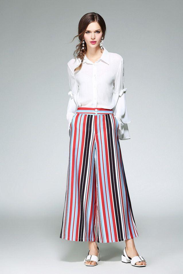 New Brand Fashion Pant Suit Clothing Set 2017 Summer Women Flare ...