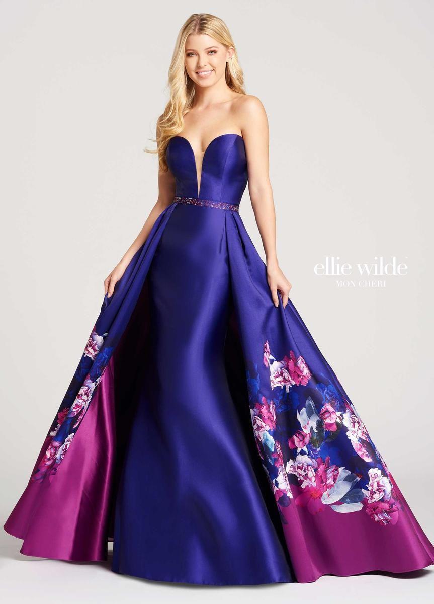 Mon Cheri Ellie Wilde EW118014 Floral Prom Gown | Vestiditos ...