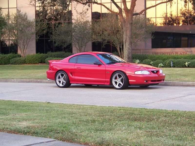 Pics Of Rio Red Sn95 Cobras With 18s Sn95 Mustang Mustang Mustang Gt