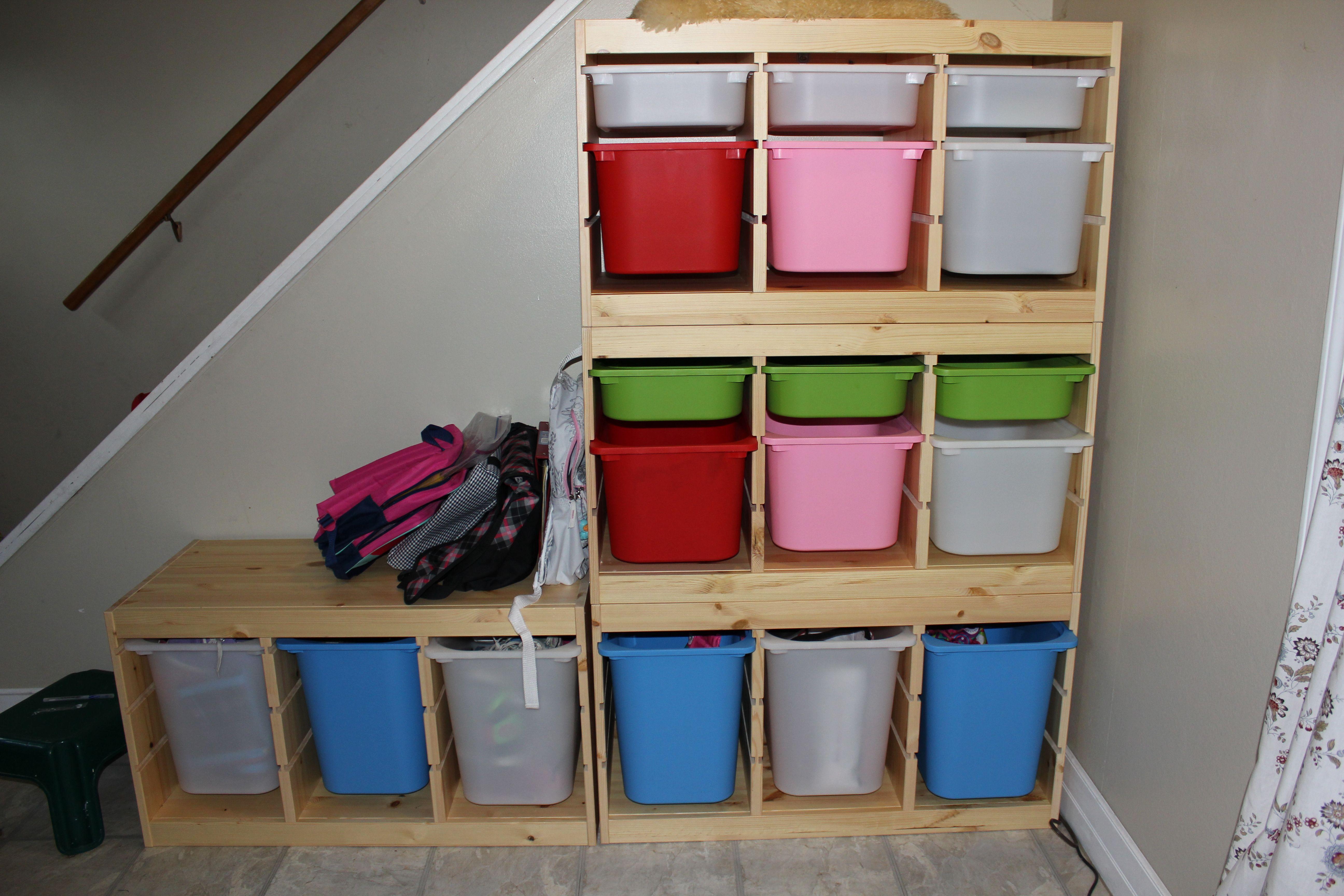 Ikea Trofast Storage In My Foyer Still A Work In