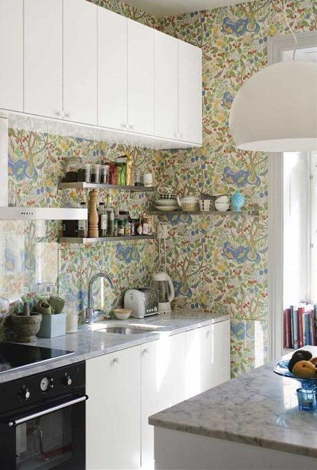 Do This Don T Wallpaper In The Kitchen Kitchen Wallpaper Apartment Kitchen Home Kitchens