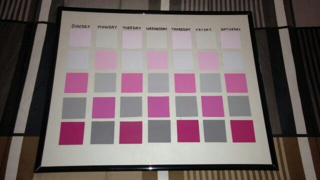 Pink And Gray Paint Sample Calendar  My  Projects