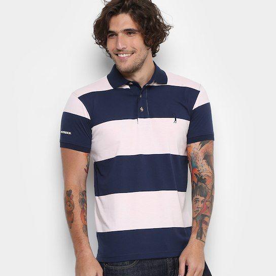 94ed2d2c0ff8d Camisa Polo Aleatory Malha Fio Tinto Masculina - Compre Agora ...
