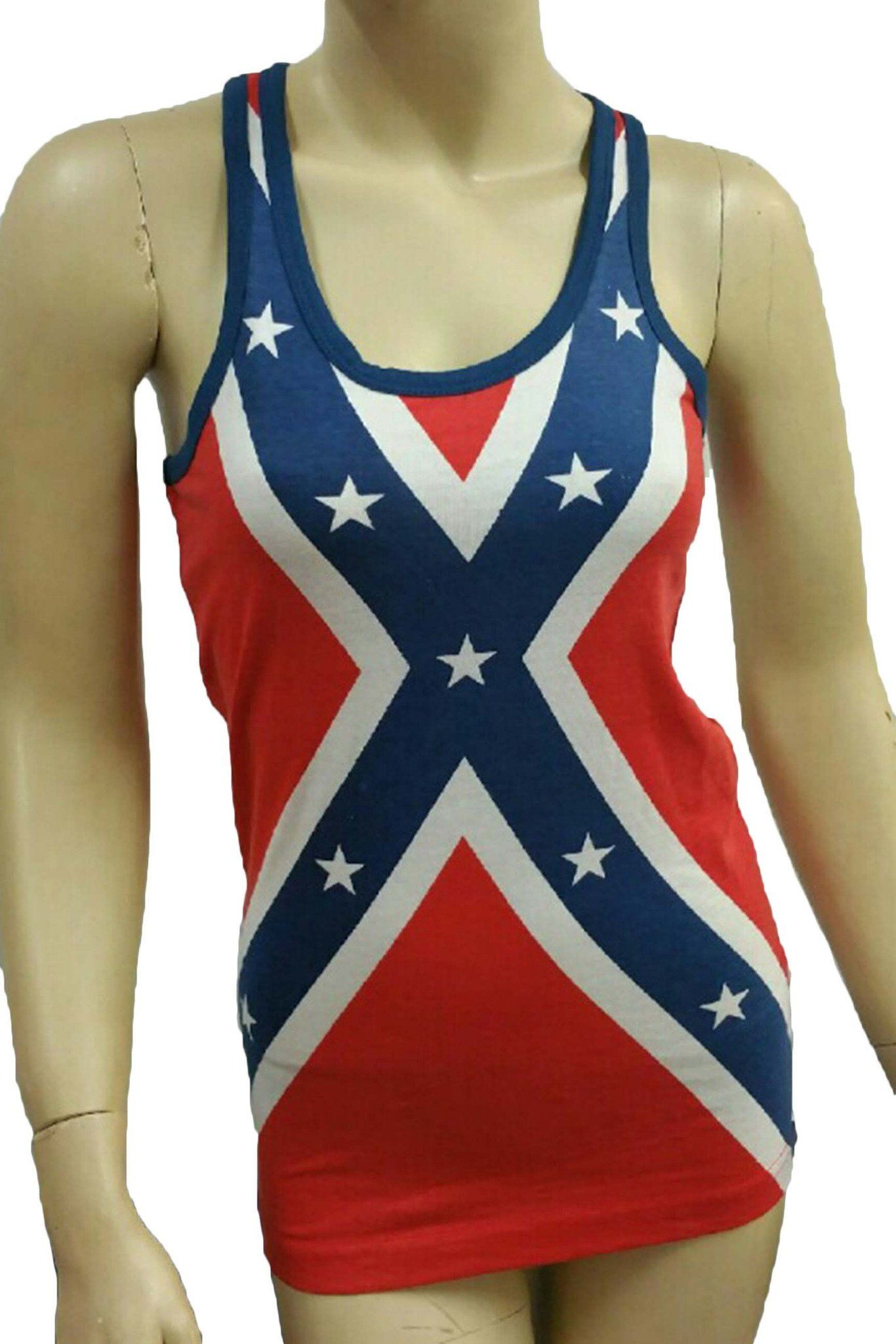 Pin On Rebel Flag Sleeveless And Long Sleeve