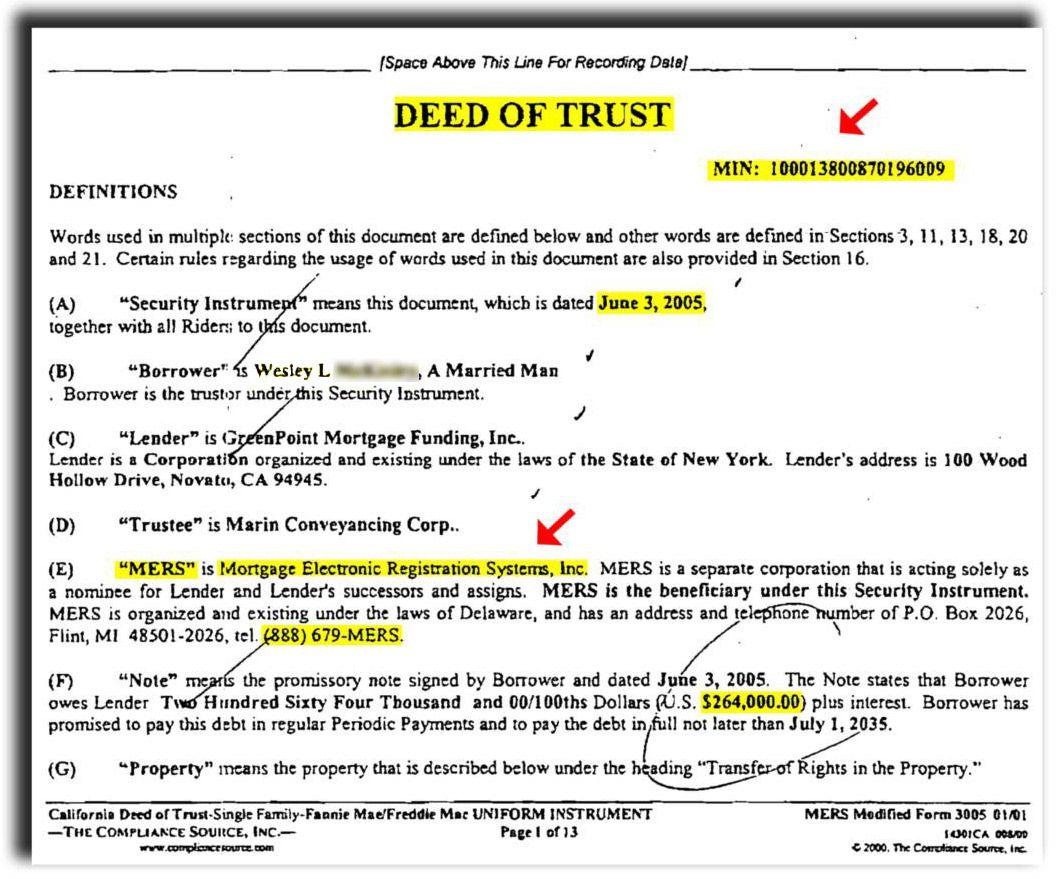 Residential Landsakes Example Of Deed Of Trust