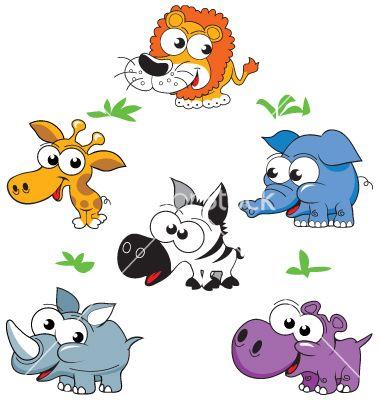 Wild animals vector on VectorStock®