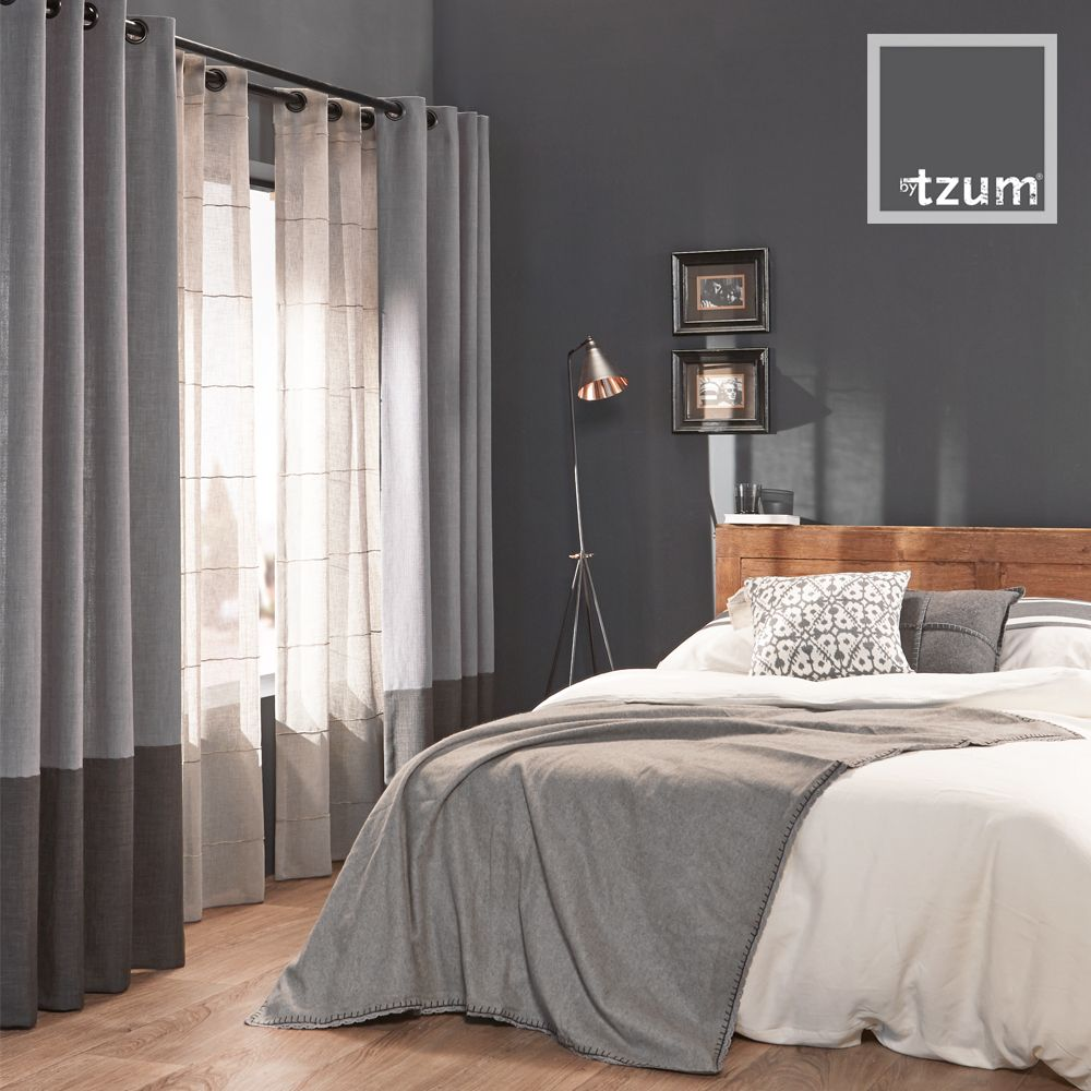 Original #curtains for an easy lifestyle. Ruw en stoere grijstinten ...
