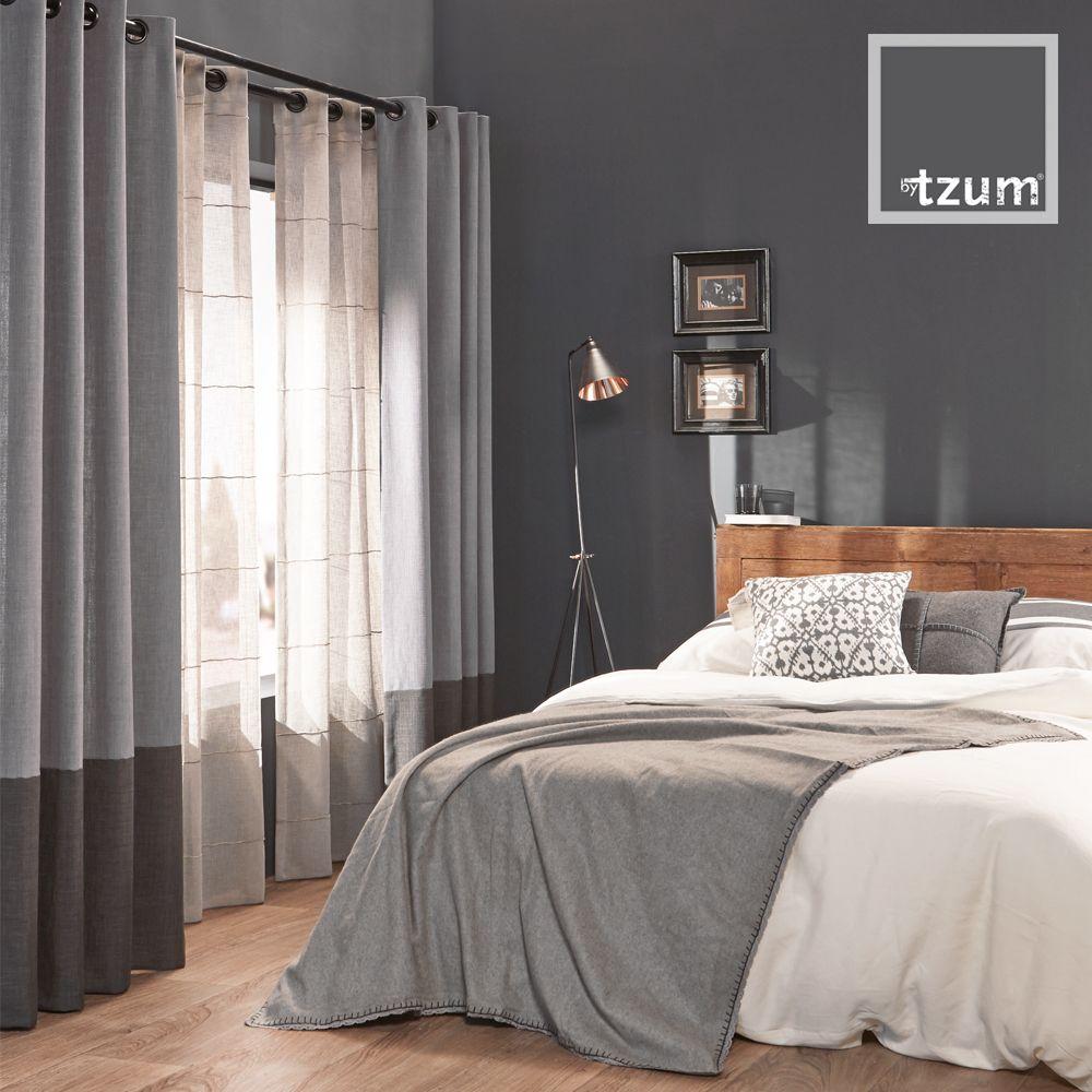 Original #curtains for an easy lifestyle. Ruw en stoere grijstinten ...
