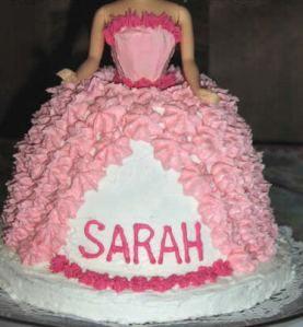 Incredible For Barbies 50Th Birthday A Princess Sarah Cake Homemade Funny Birthday Cards Online Necthendildamsfinfo