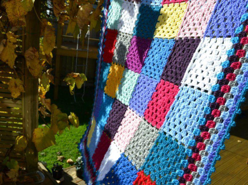 Crochet Granny Square Baby Blanket Square Blanket And Crochet