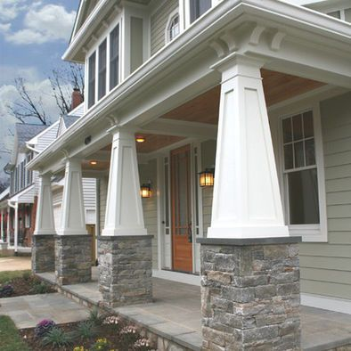Craftsman Pillars Design Ideas Pictures Remodel And Decor House Exterior Craftsman Porch Craftsman Columns