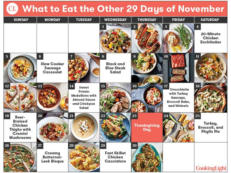 What to Eat the Other 29 Days of November - Cooking Light
