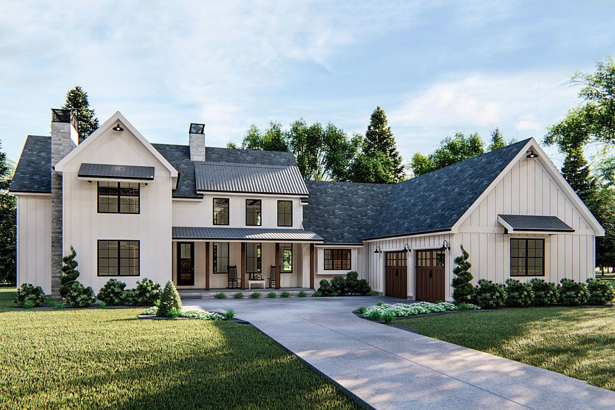 Five Bedroom Modern Farmhouse with Inlaw Suite Modern