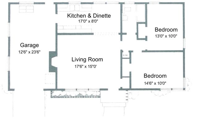 Superior Small House Floor Plans 2 Bedrooms | Click Image To Enlarge. Plans For 2  Bedroom, 1 Bathroom House