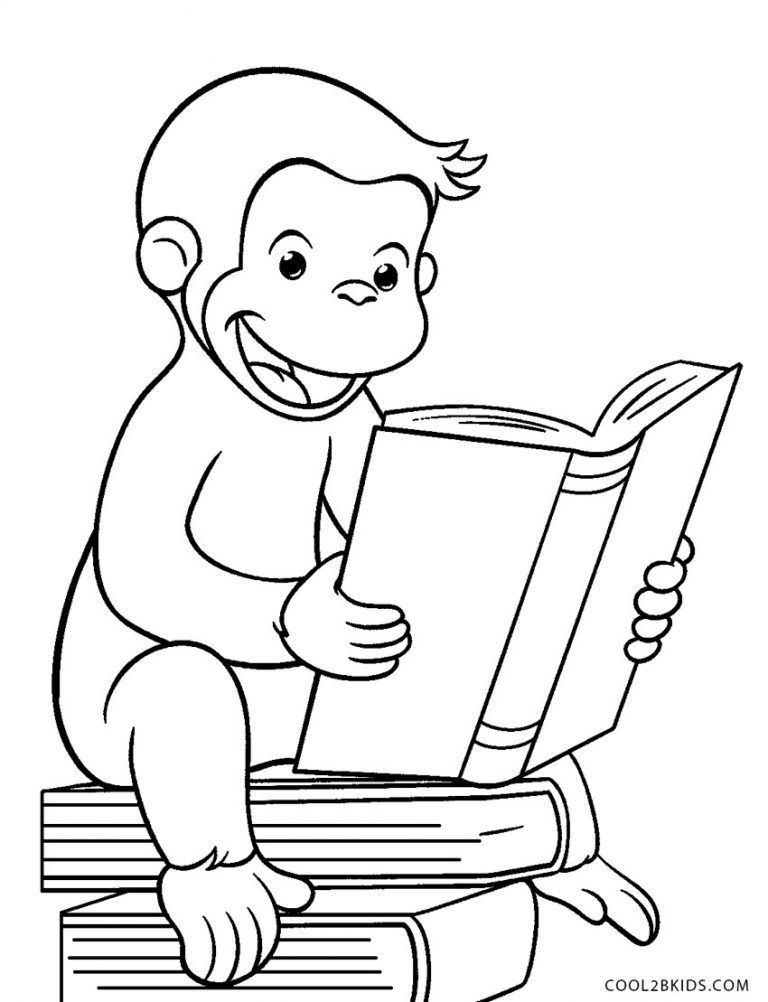 Free Printable Curious George Coloring Pages For Kids Cool2bkids In 2020 Curious George Coloring Pages Kids Printable Coloring Pages Monkey Coloring Pages