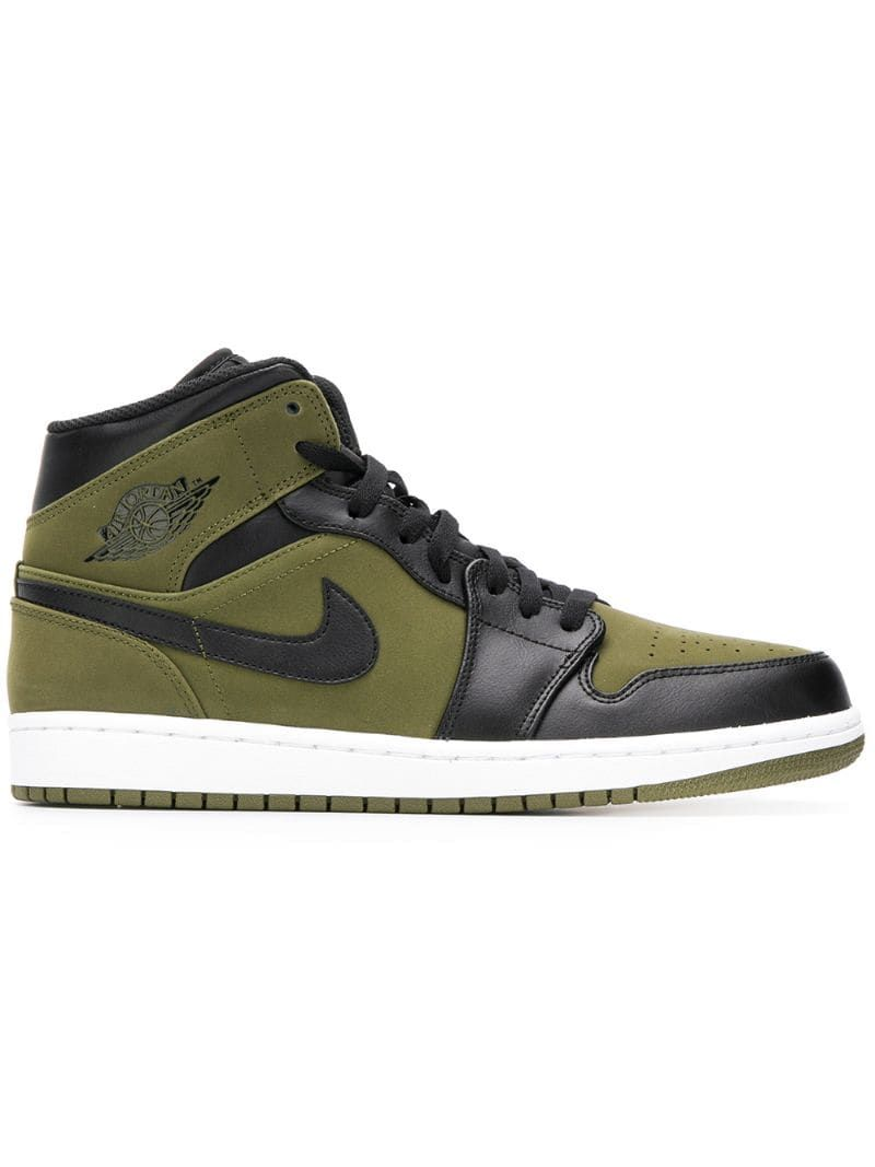 JORDAN JORDAN AIR JORDAN 1 HIGH SNEAKERS - GREEN. #jordan #shoes ...