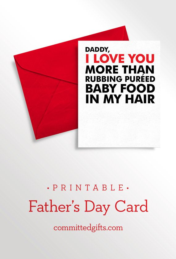 Printable Fathers Day Card
