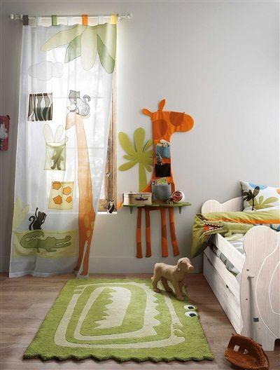 Chevet mural girafe enfant savane party ORANGE - vertbaudet enfant ...
