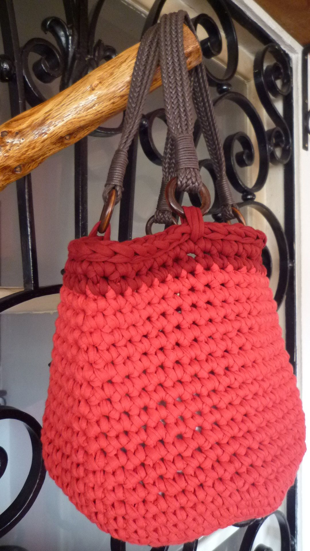 Crochet Bag T Shirt Yarn Ana Coelho Pinterest