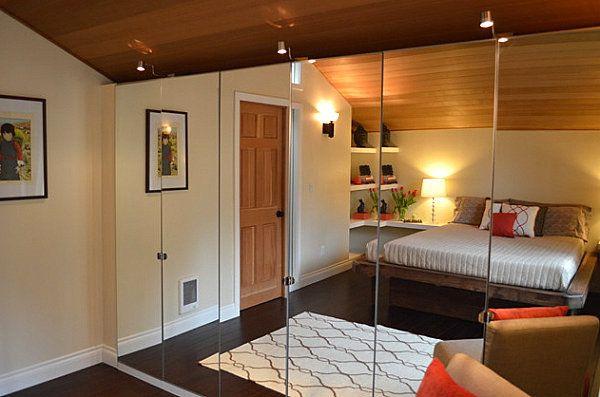 spiegewand schlafzimmer kleiderschrank ohne rahmen schiebetüren - schlafzimmer ohne kleiderschrank