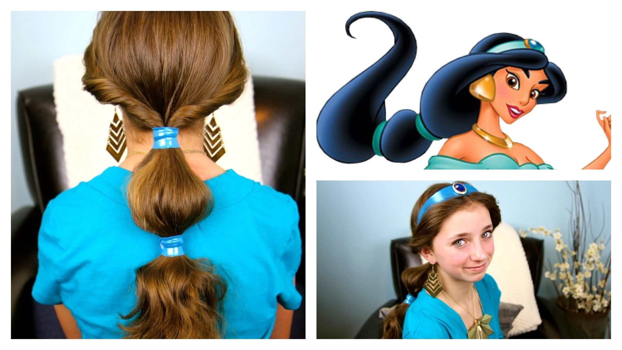 Jasmine Hairstyle Tutorial A Cutegirlshairstyles Disney