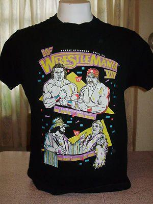 3a1f1089 Vintage WWF Wrestlemania VIII Shirt XL Hogan Flair Macho Man WWE WCW | eBay