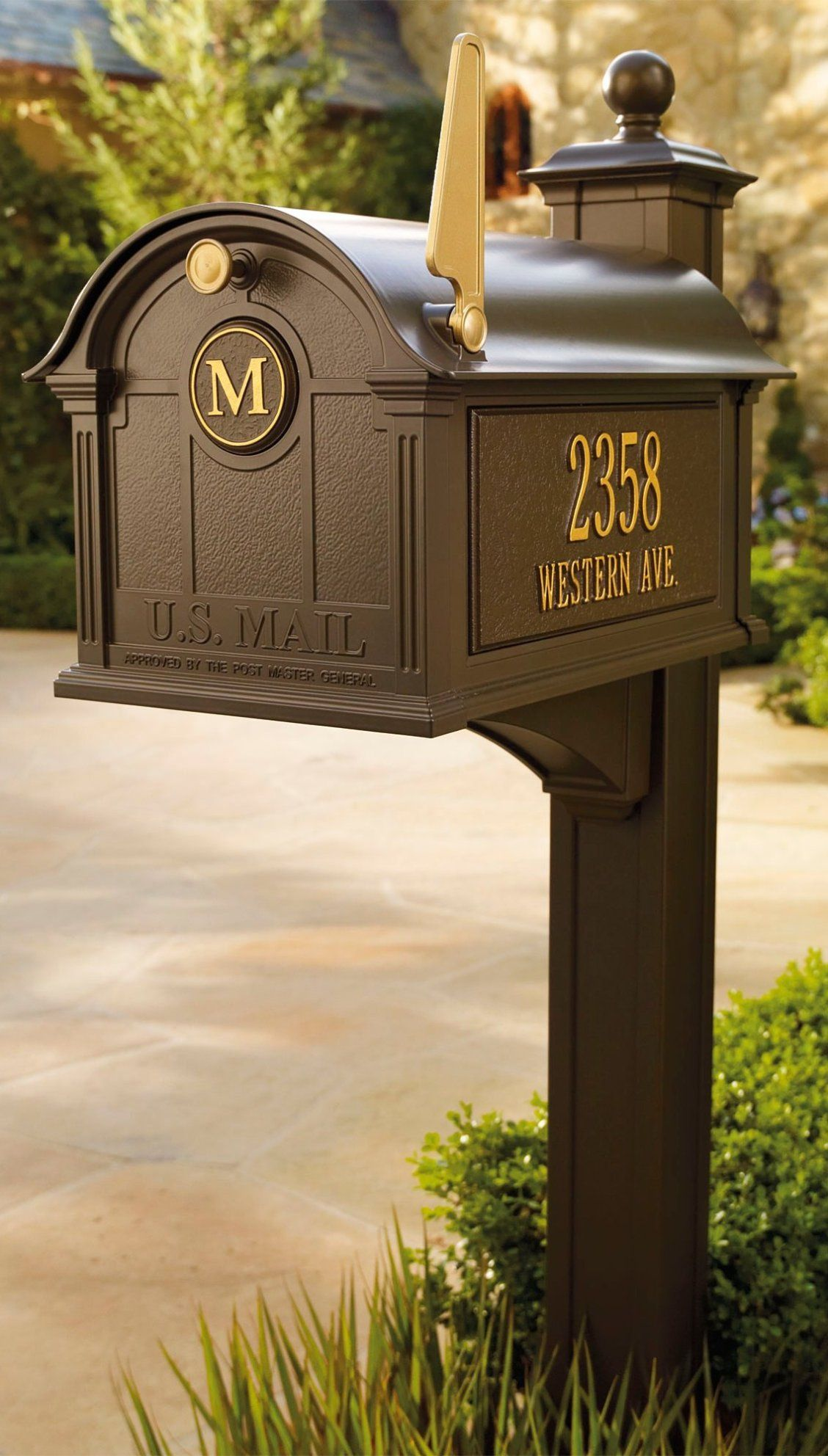 Balmoral Mailbox Frontgate Mailbox Frontgate Patio Landscaping