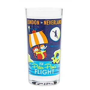 Peter Pan's Flight Retro Glass Tumbler | Disney Store Peter Pan's Flight will take you on a pixie-dusted pirate galleon to high adventure when sipping from this retro-styled glass tumbler direct from Disneyland's WonderGround Gallery.