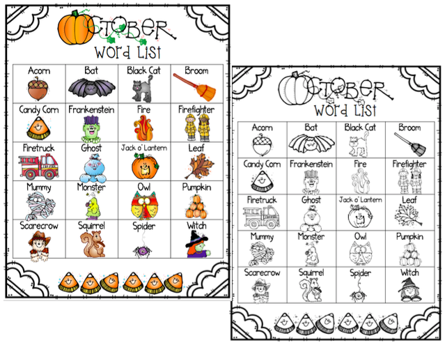 Write it! October Journal Prompts, Word Lists, and Cover
