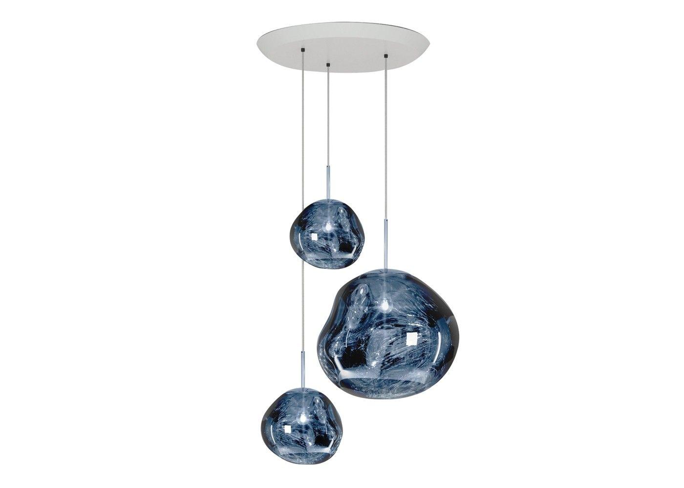 Melt LED Gold Large Round Pendant System