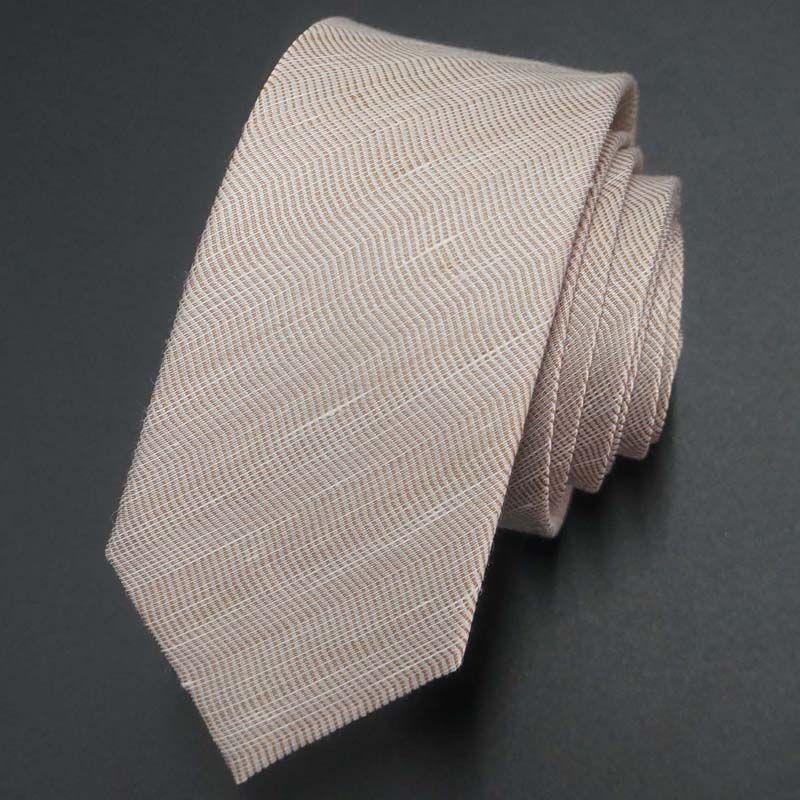 fashion business silk mixed linen necktie for men
