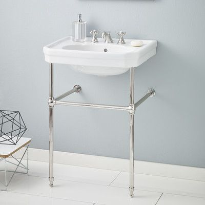 Cheviot Products Mayfair Metal 25 Console Bathroom Sink With