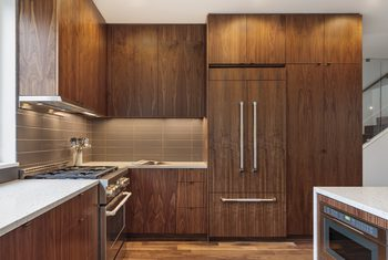 The Best Easy Way to Strip Kitchen Cabinets | Stained ...