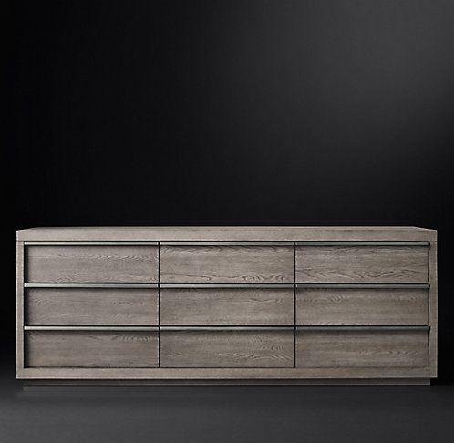 Best Rh Modern S Bezier Collection Grey Oak Pewter With 400 x 300