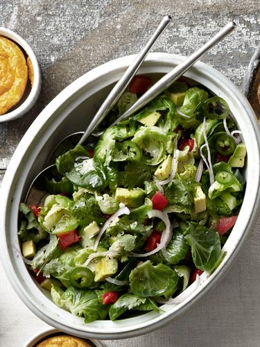 Marvin Woods's Brussels Sprouts, Red Pepper, and Avocado Salad #buffalobrusselsprouts