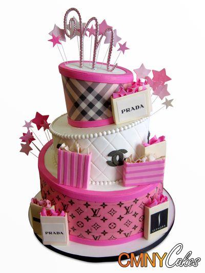 Designer Labels Topsy Turvy Cake Prada Chanel Lv Vs