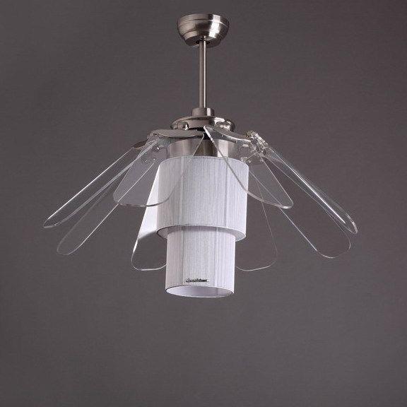 New arrival folding fan 42 ceiling fan lights fan lamp 42yft 7066 modern brief fashion remote