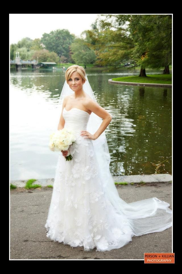 Love the flowers on this gown. Boston Wedding Photography, Bridal ...