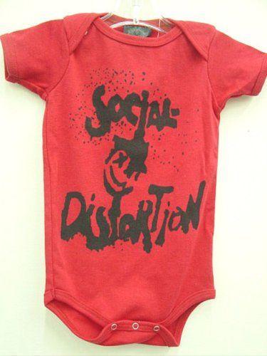 405cd9454 social distortion baby clothes   Punk Rocker Kids Clothes. Social  Distortion Baby Onesie. Little .
