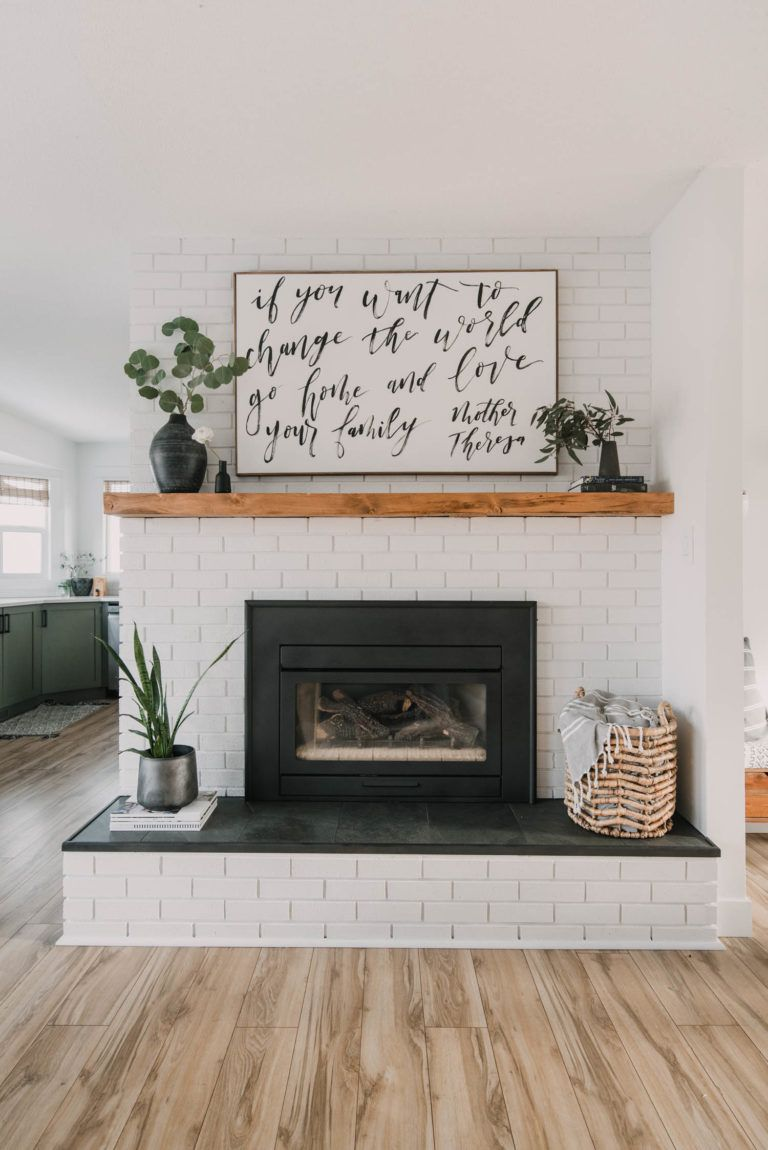 Photo of DIY Brick Fireplace Makeover – Lemon Thistle