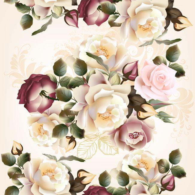 Flores,Estilo europeu de Flores,Poster,Background,Romântico,Fantasia ...